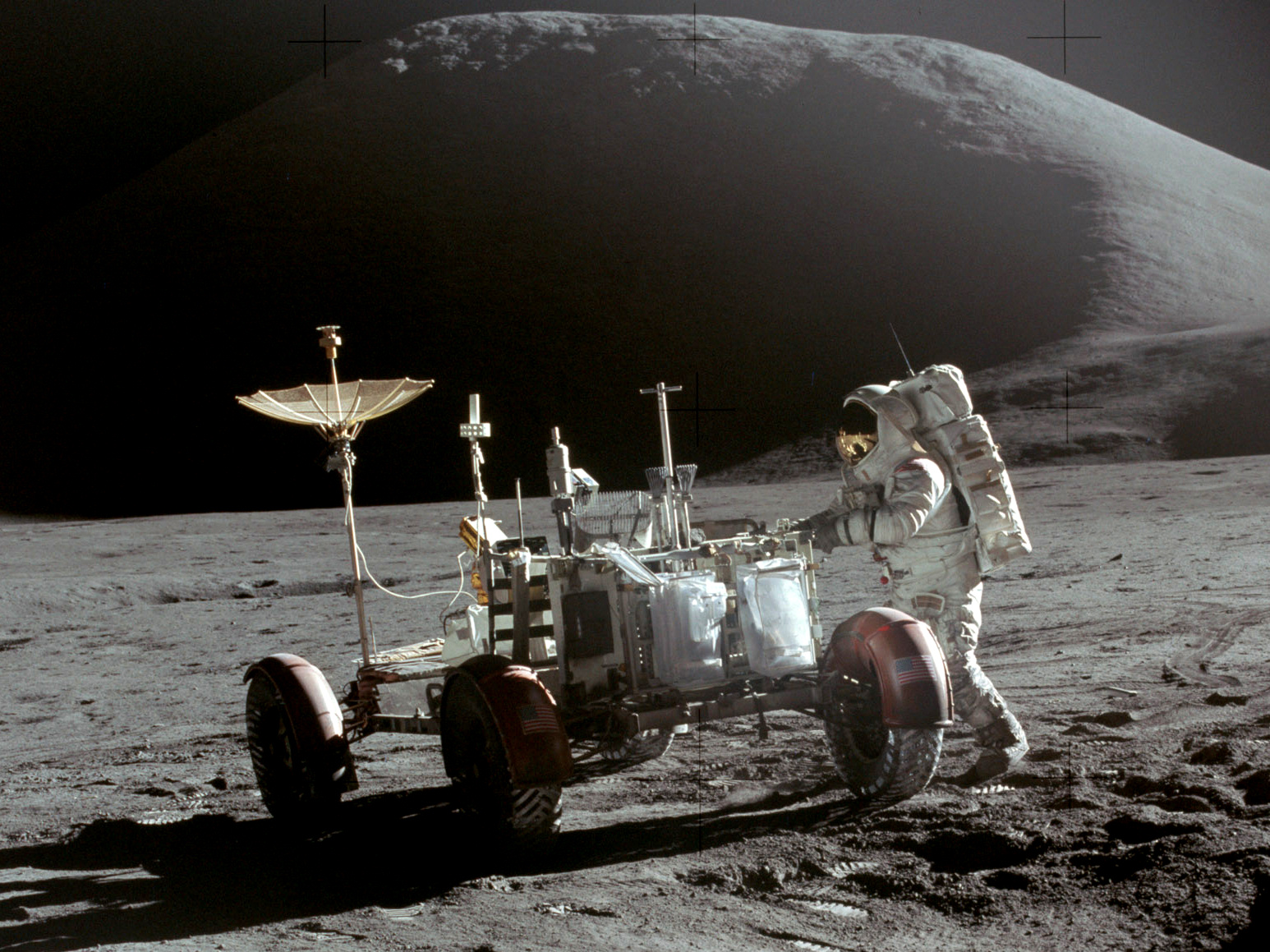 apollo the first space flights to the moon - photo #27