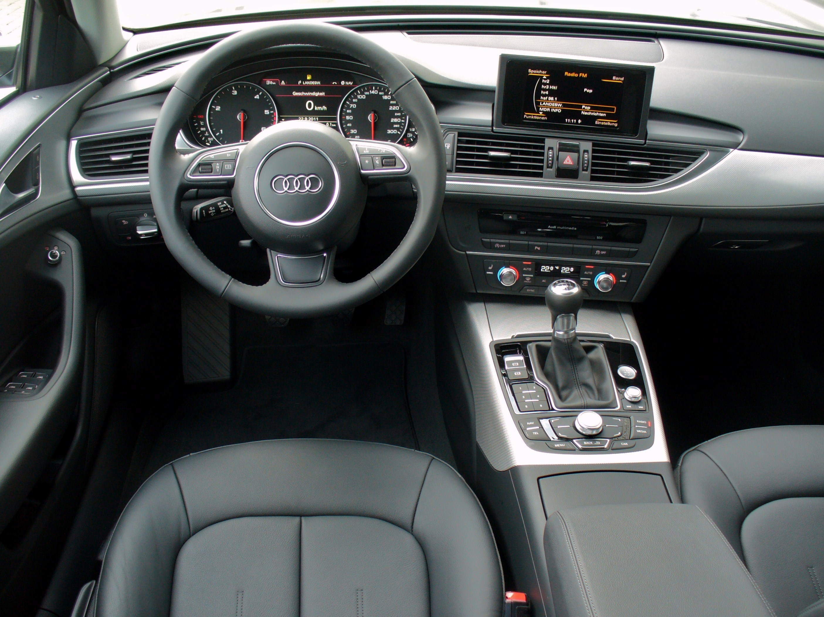 file audi a6 avant 2 0 tdi dakotagrau interieur jpg wikimedia commons. Black Bedroom Furniture Sets. Home Design Ideas