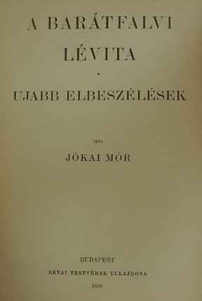 A barátfalvi lévita cover