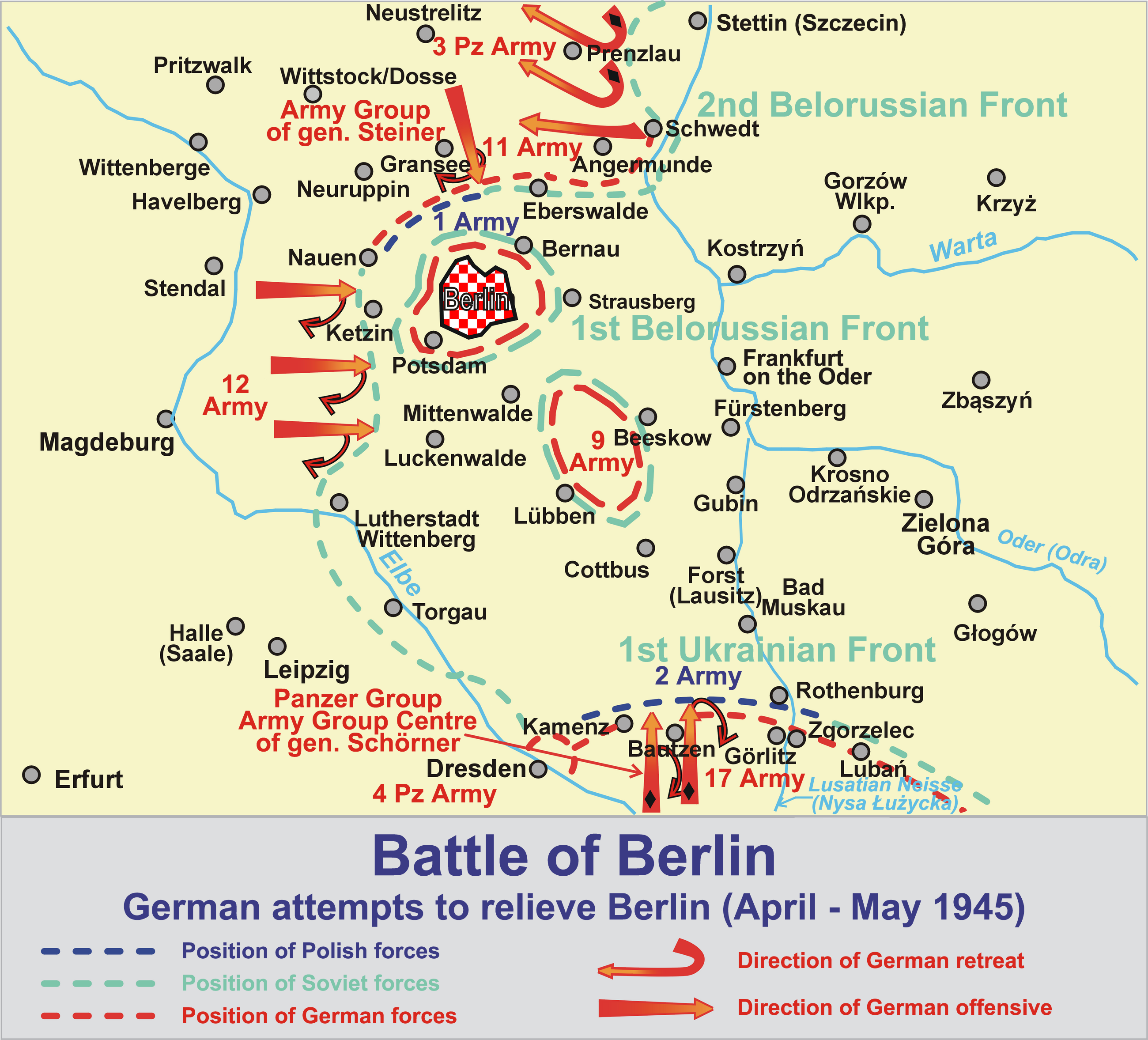Overview of the battle of Berlin