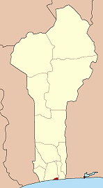 Map of Benin highlighting Littoral department