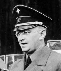 Sudetenland was administered by Konrad Henlein for the duration of the war Bundesarchiv Bild 121-0008, Sudetenland, Besuch Wilhelm Frick (cropped Konrad Henlein).jpg
