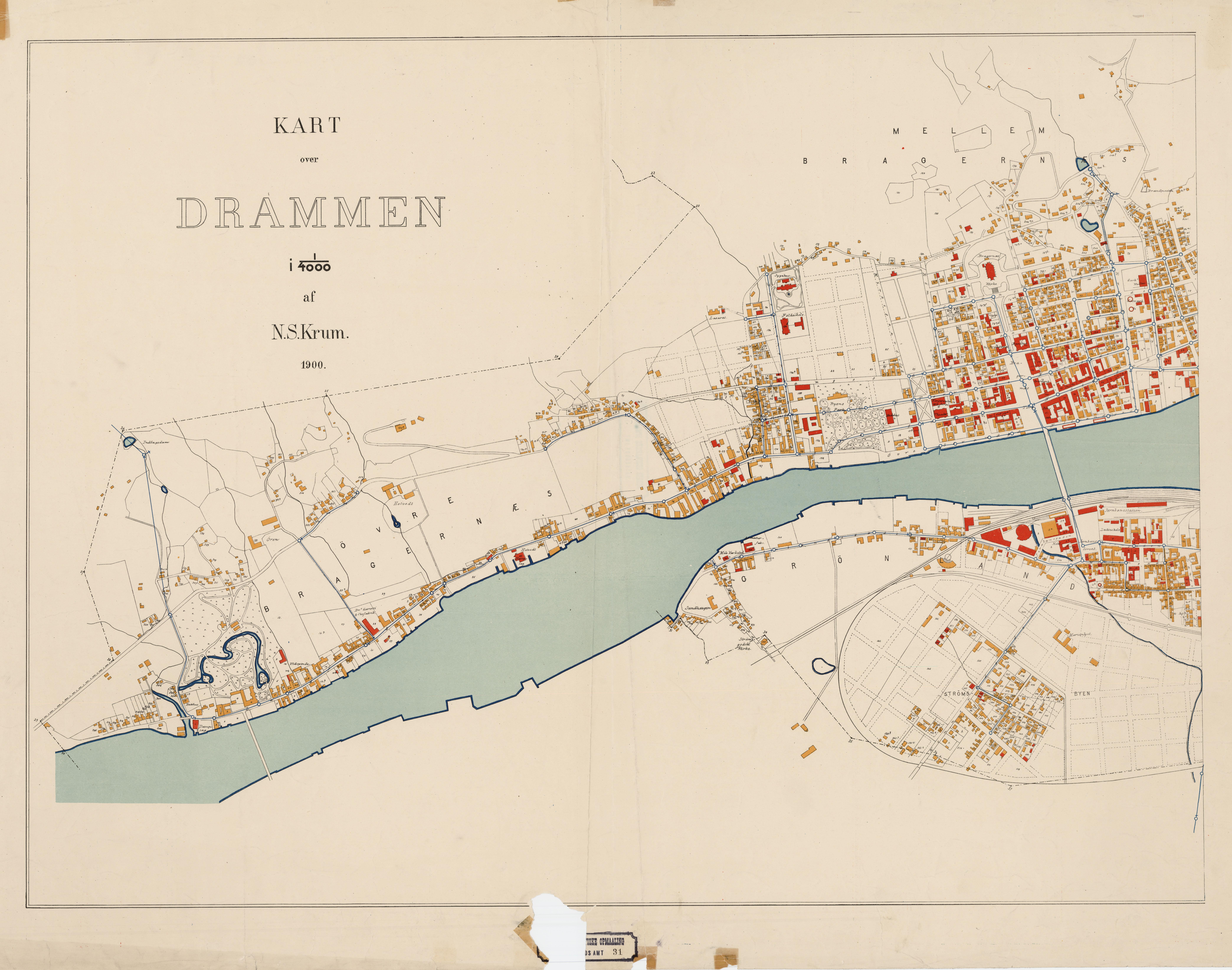 kart over vest norge File:Buskerud amt nr 31 vest  Kart over Drammen (vest), 1900.  kart over vest norge