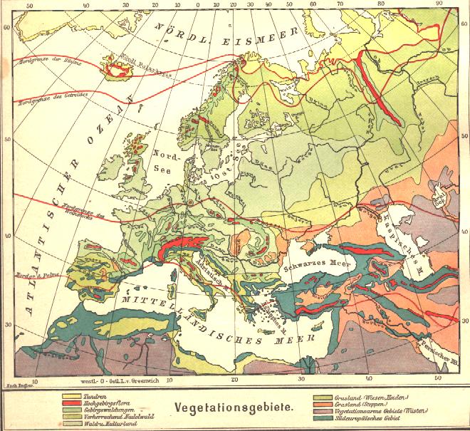 Carte De Ieurope.File Carte De La Vegetation De L Europe Png Wikimedia Commons