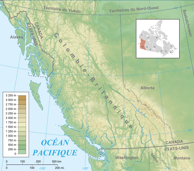 Fichier:Carte physique Colombie-Britannique.png — WikipédiaCanada Physical Map