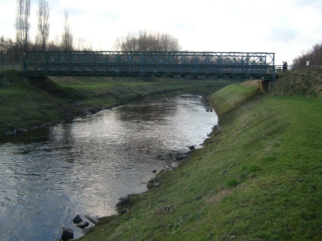 Chorlton Water Park footbridge - geograph.org.uk - 634600