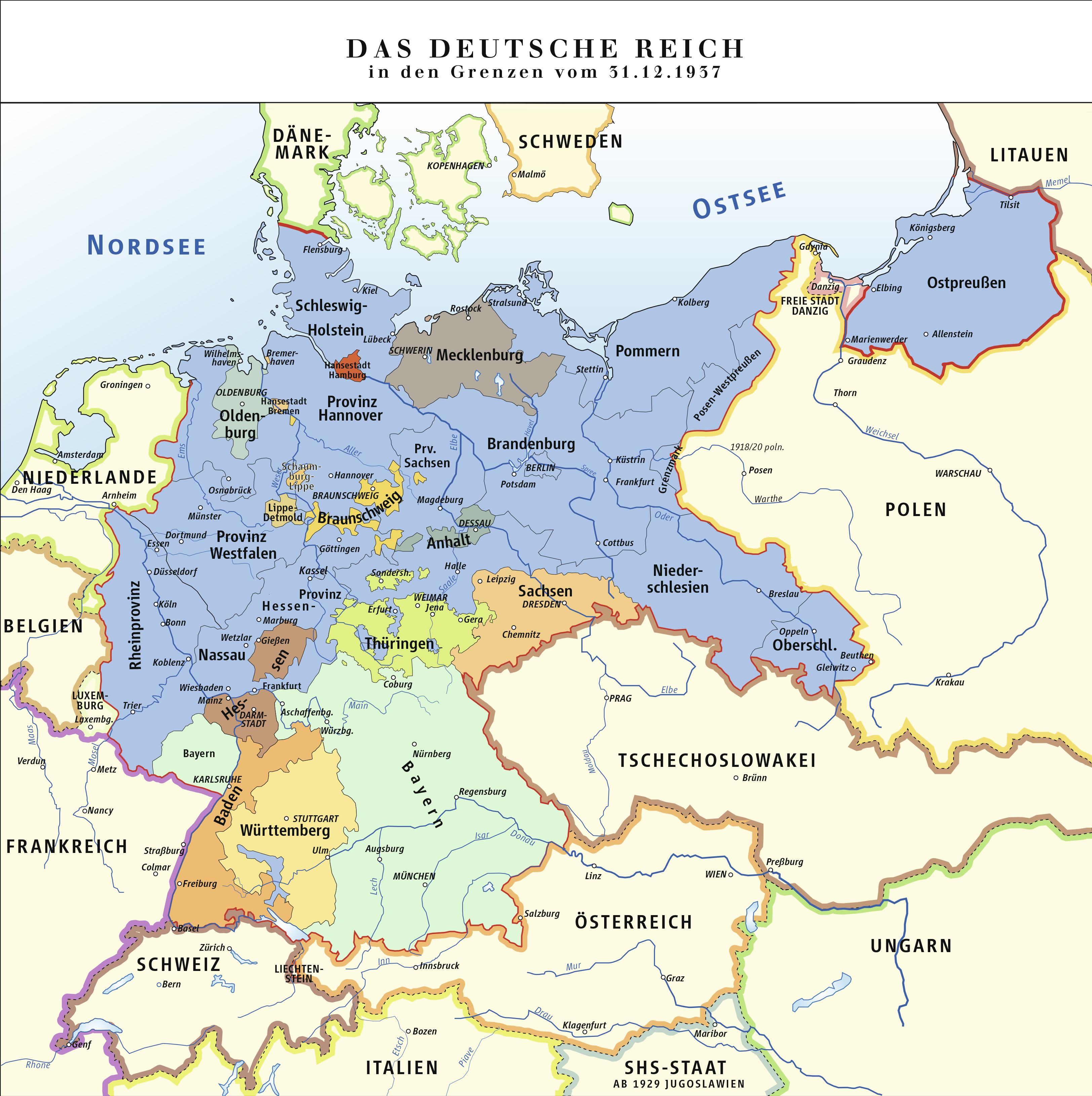 deutschland 2 weltkrieg karte Deutsches Reich in den Grenzen vom 31. Dezember 1937 – Wikipedia