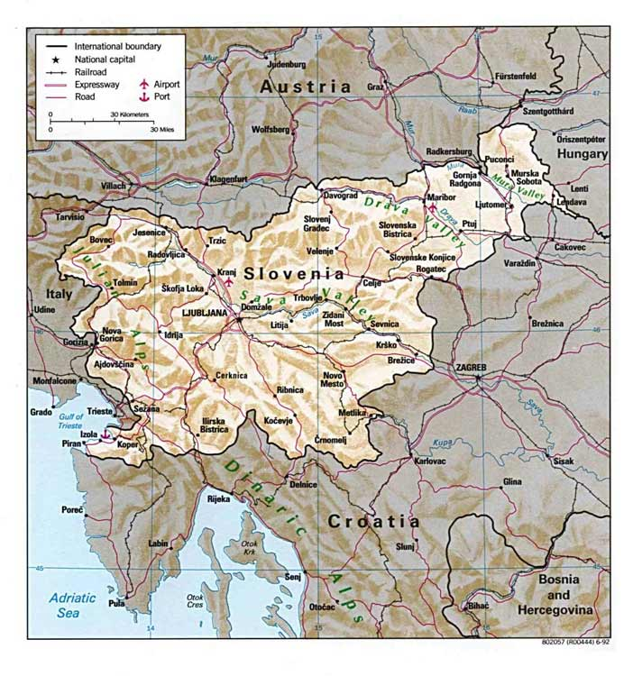 File Detailed Map Of Slovenia Jpg Wikimedia Commons