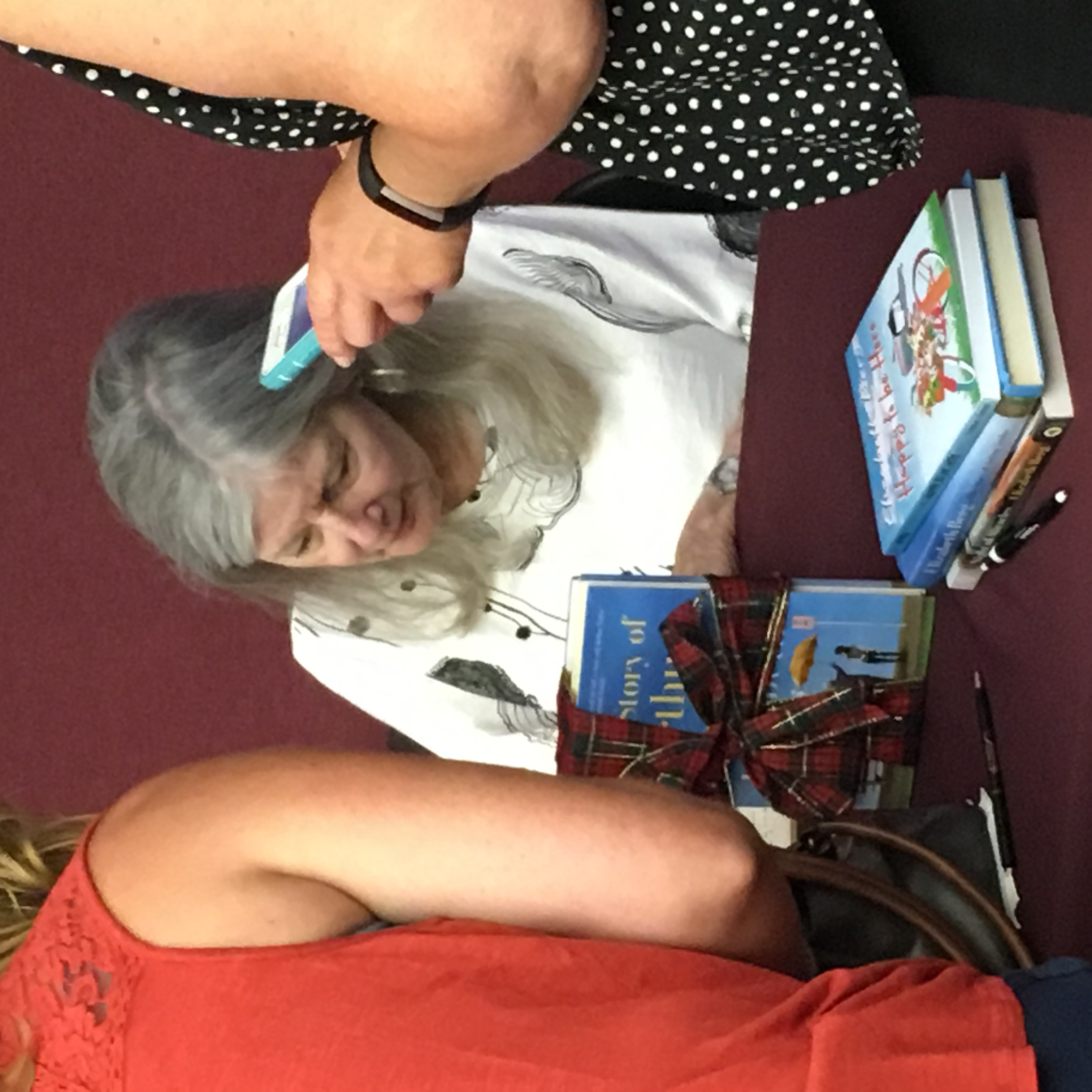 Berg at a book signing
