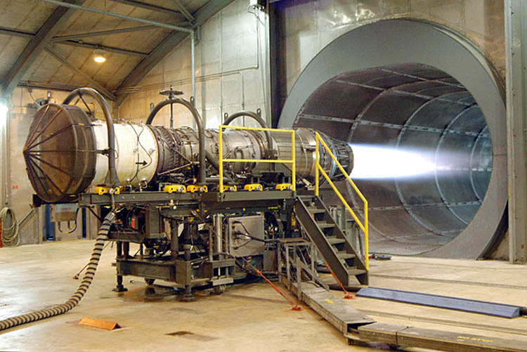 Testing of a turbofan engine