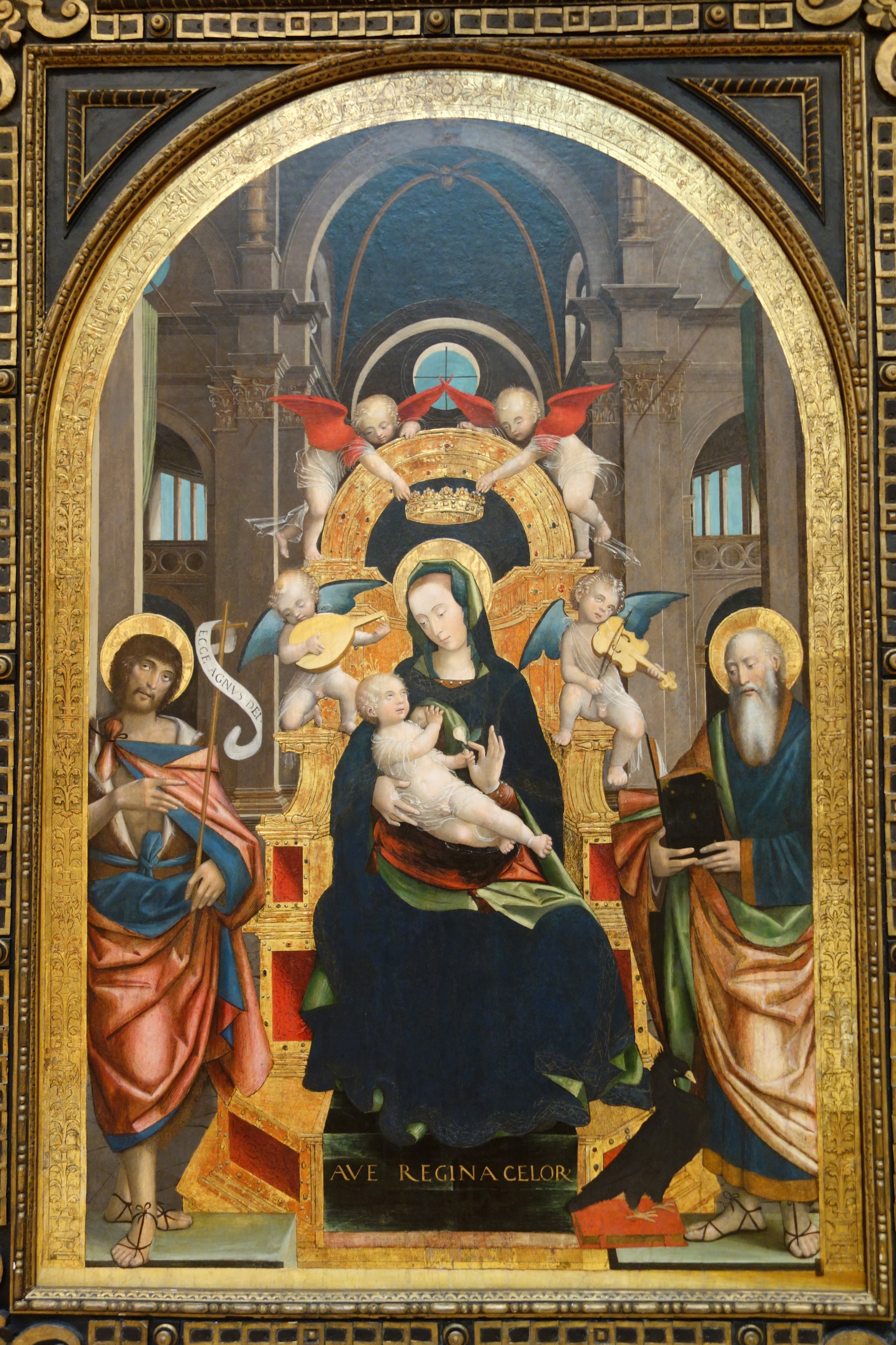 File Enthroned Madonna And Child With Saints John The