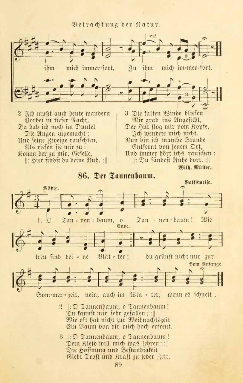 Liedtext O Tannenbaum.Datei Ernst Anschuetz Der Tannenbaum Jpg Wikipedia