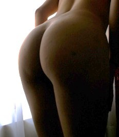 Female buttocks lighted