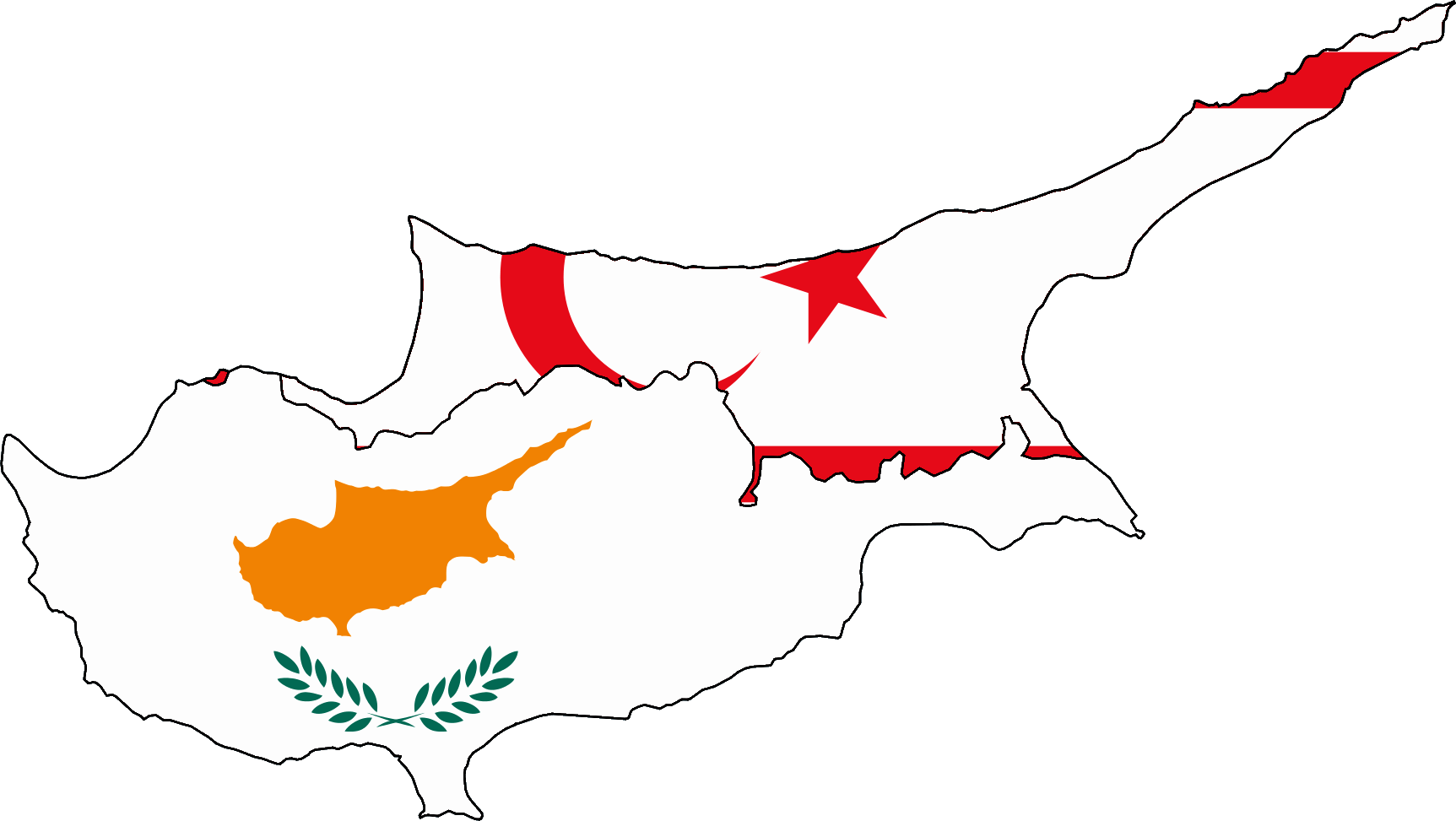FileFlag map of Cyprus and Turkish Northern Cypruspng Wikimedia