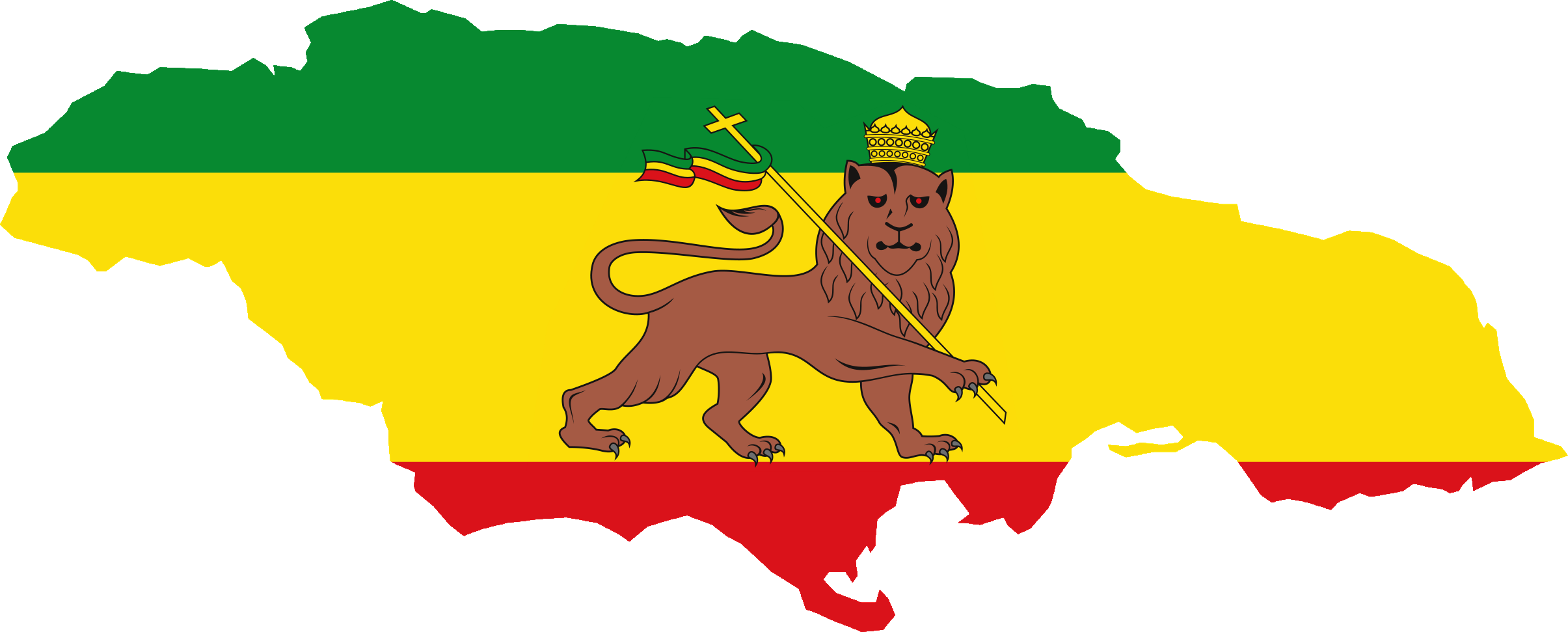 Map of Jamaika Flag