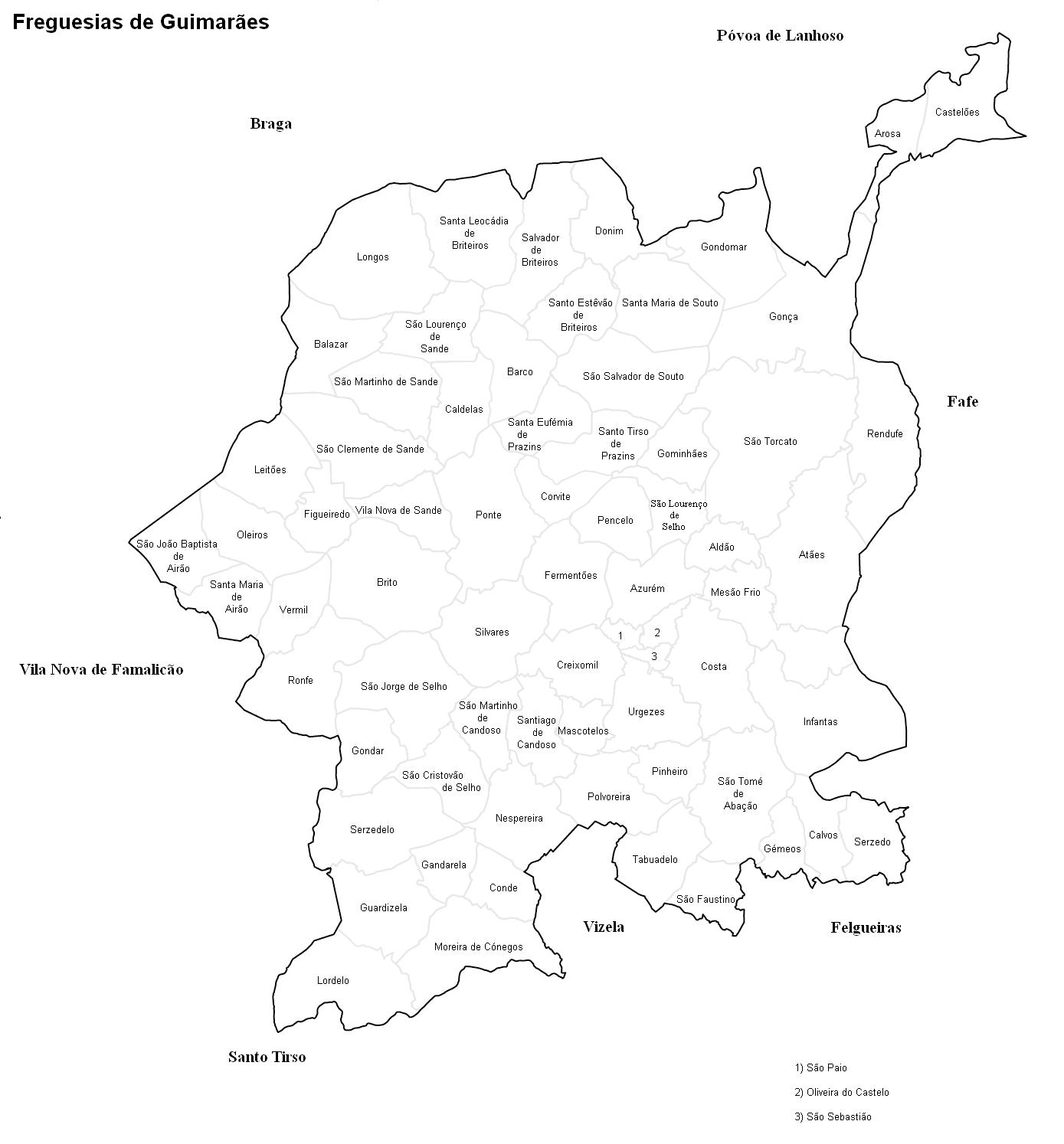 mapa de guimarães freguesias File:GMR mapa freguesias.PNG   Wikimedia Commons mapa de guimarães freguesias