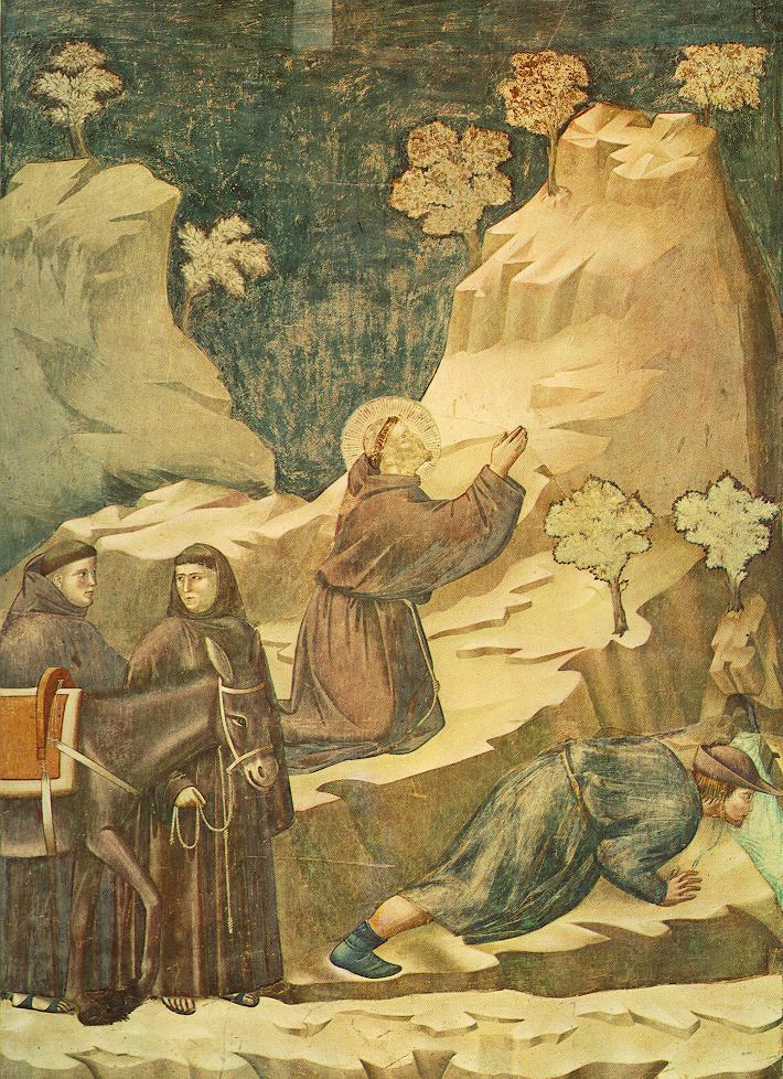 external image Giotto_-_Legend_of_St_Francis_-_-14-_-_Miracle_of_the_Spring.jpg