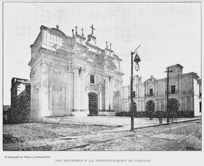 Iglesia de San Francisco en 1892