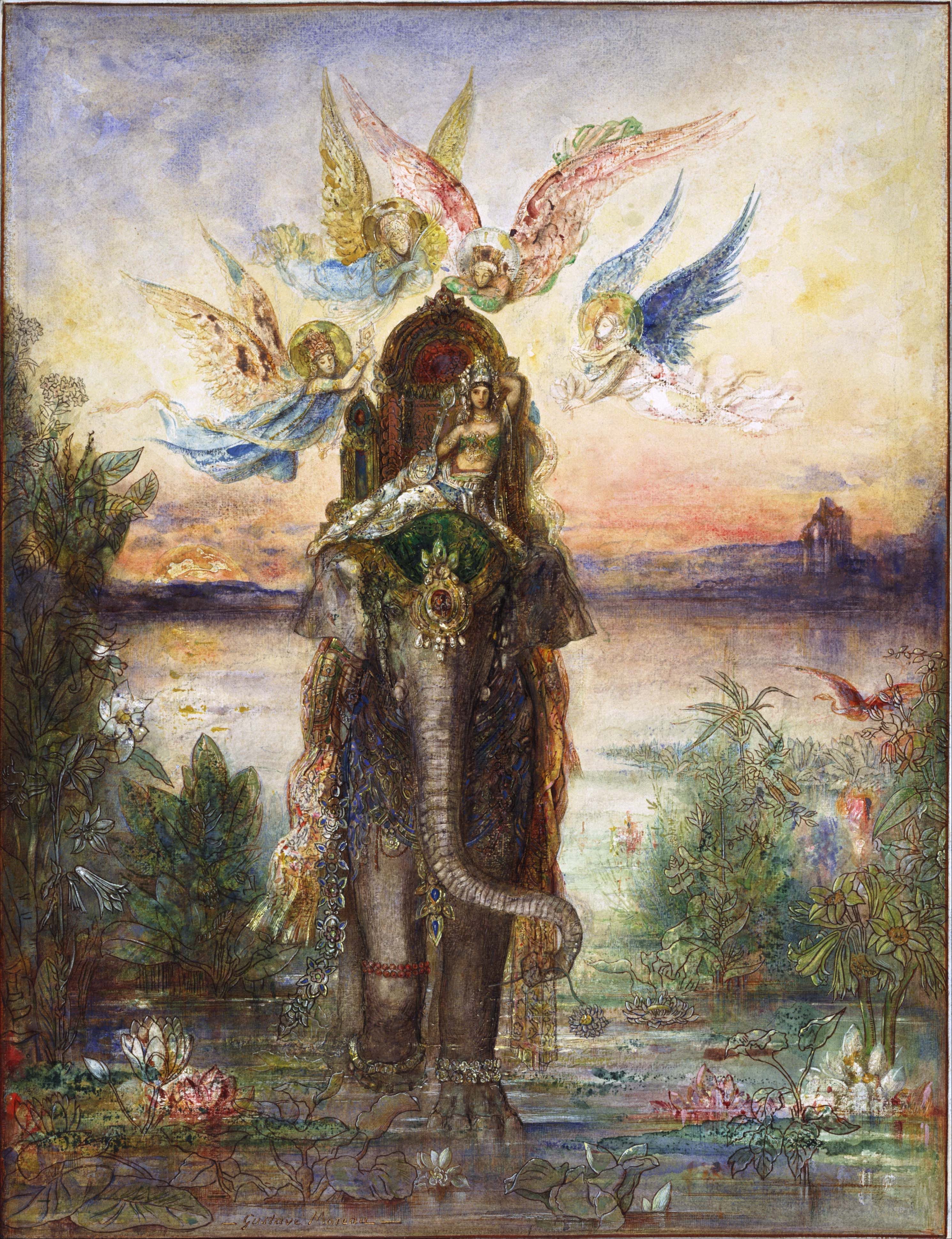 File:Gustave Moreau - The Sacred Elephant (Péri) - Google Art Project.jpg - W...