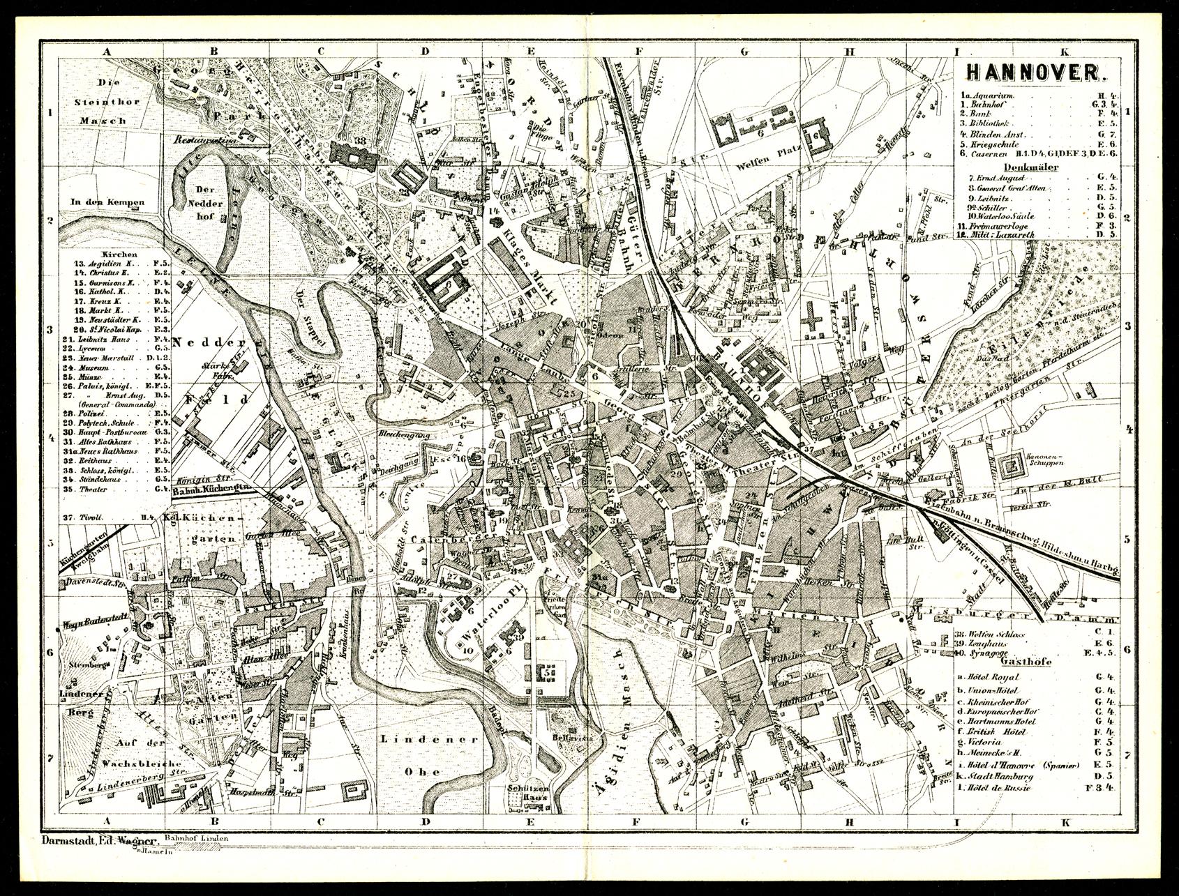 Hannover und Linden 1873