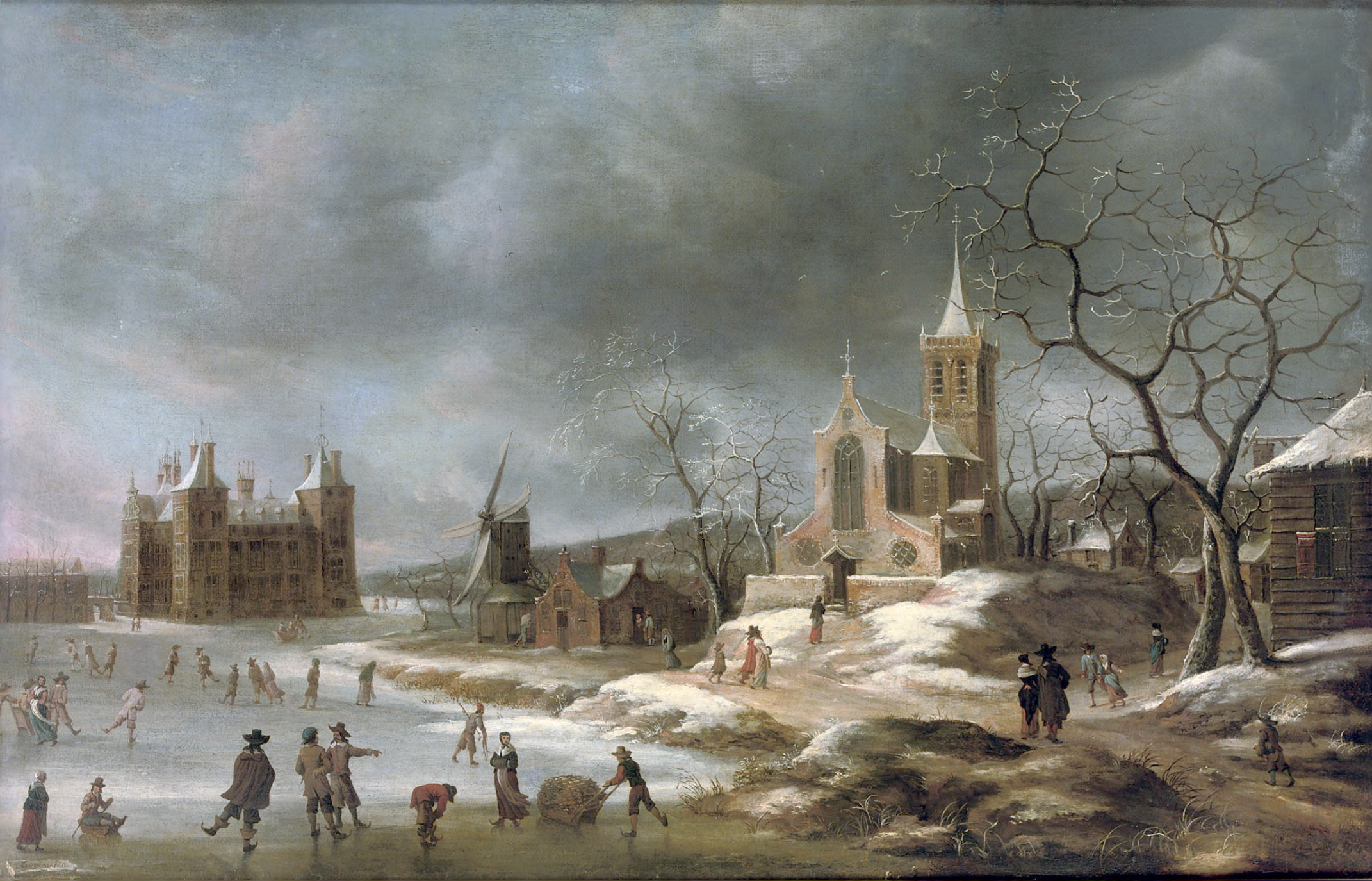File:Jan Abrahamsz Beerstraaten (Amsterdam 1622-1666) - A winter landscape  with