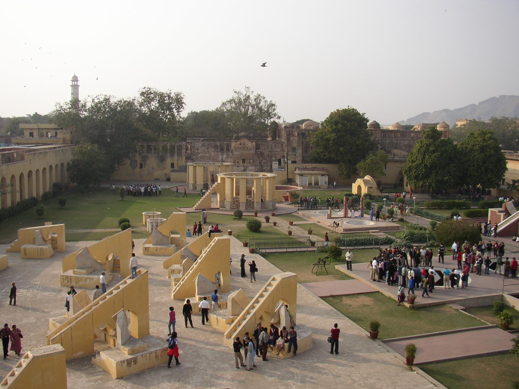 Jaipur Jantar Mantar, aerial view