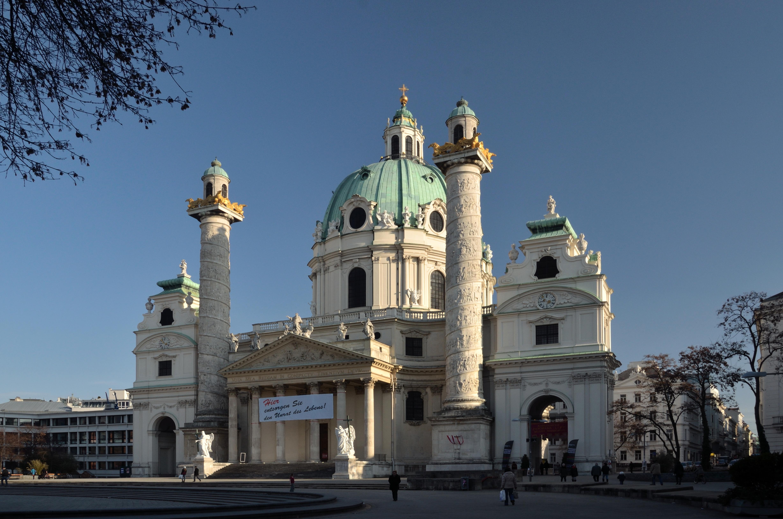 File Karlskirche, Vienna Hier entsorgen sie den Unrat des Lebens jpg Wikimedia Commons