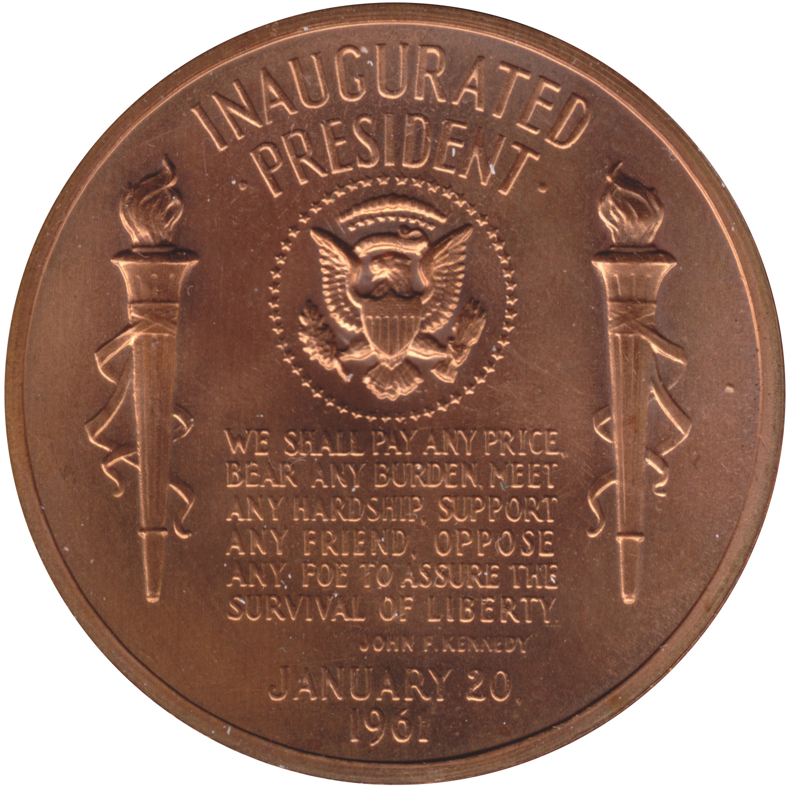 Reverse of Kennedy medal