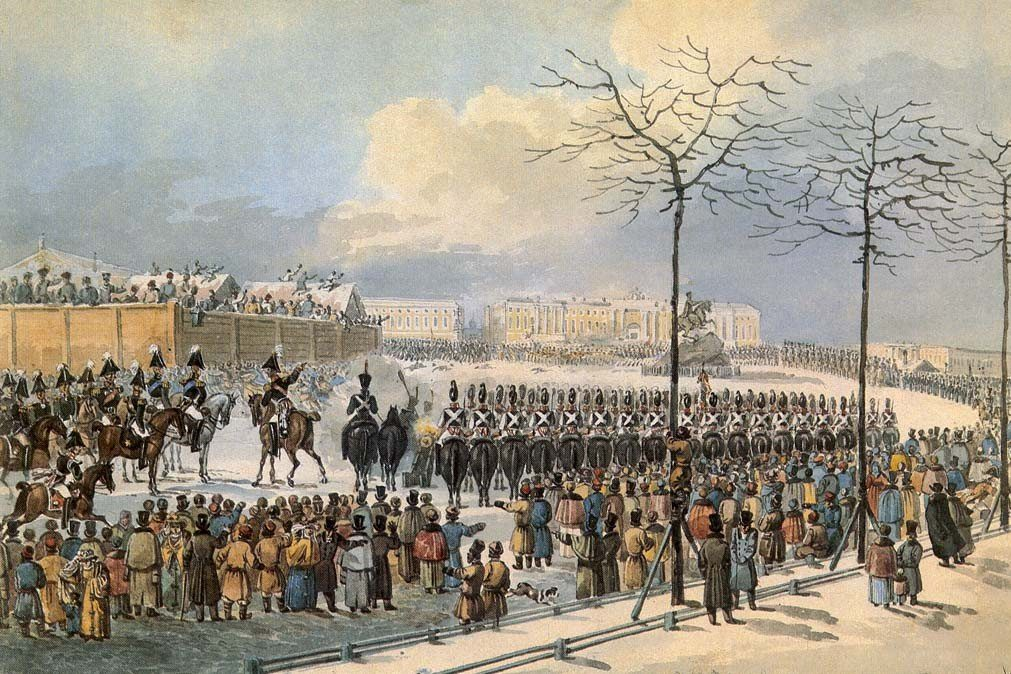 Carl Coleman. The Decembrist revolt. St. Petersburg (Russia), Senate Square.