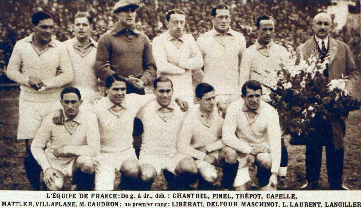File L Equipe De France De Football A La Coupe Du Monde 1930 Face A