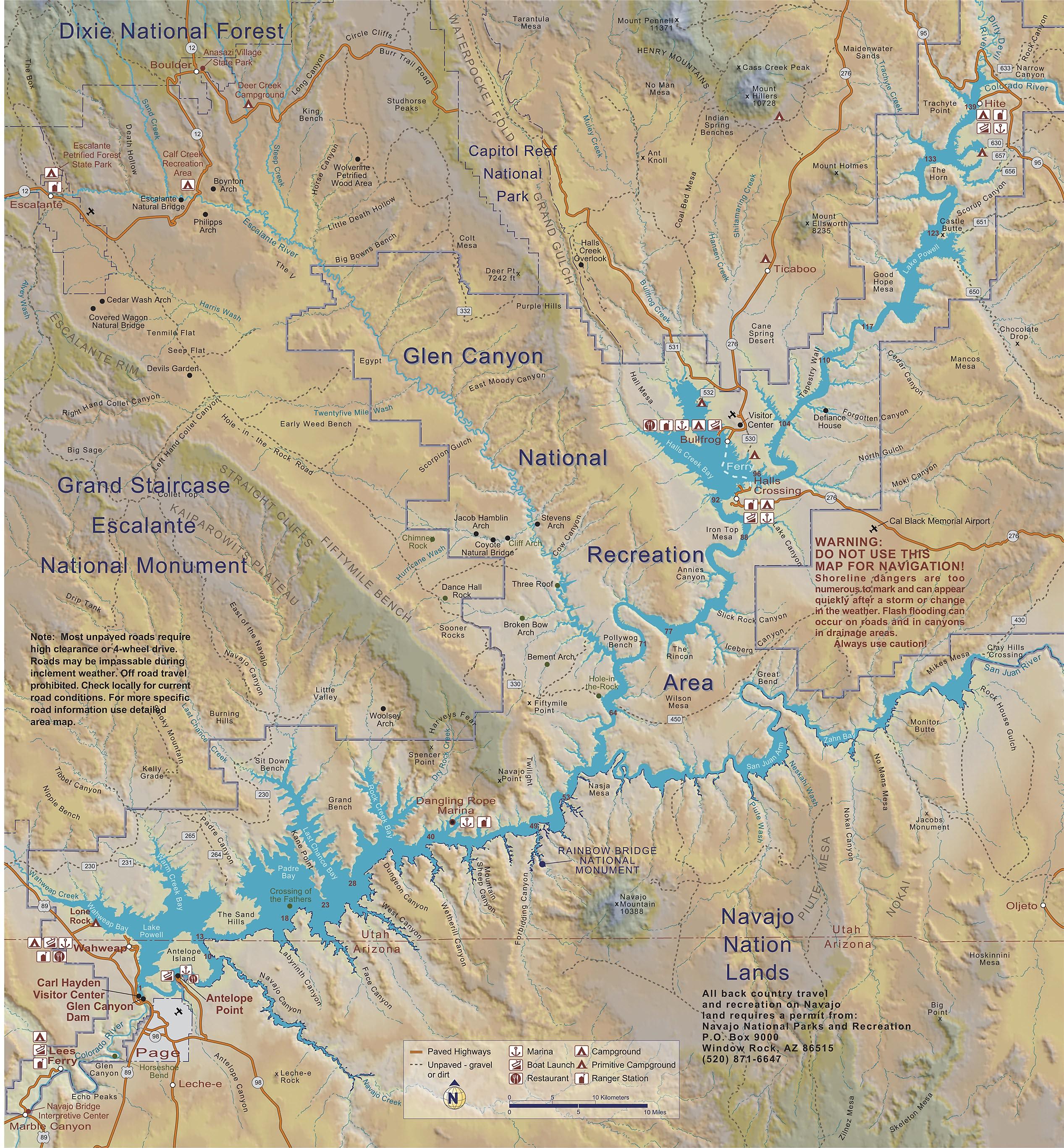 File:Lake Powell Map.   Wikimedia Commons