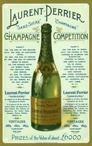 An Edwardian English advertisement for Champagne, listing honours and royal drinkers