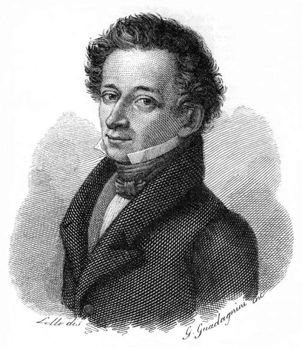 Nella foto: Giacomo Leopardi, incisione su rame di Gaetano Guadagnini (1830), dal ritratto di Luigi Lolli del 1826 (base per molti ritratti postumi)