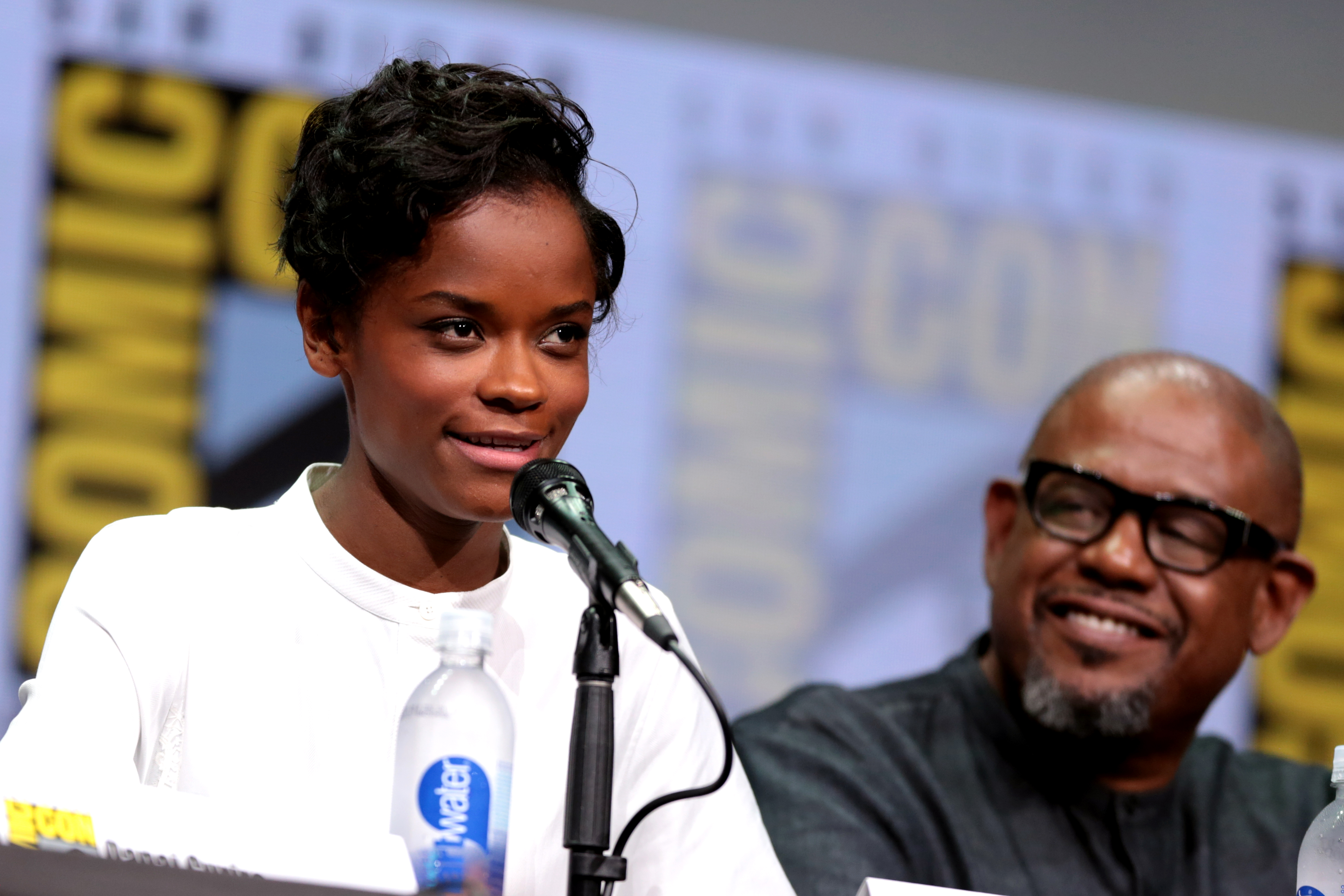 File:Letitia Wright & Forest Whitaker (35439714723).jpg - Wikimedia Commons