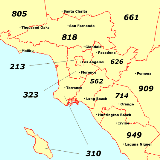 818 Area Code Map File:Los Angeles area codes.png   Wikimedia Commons