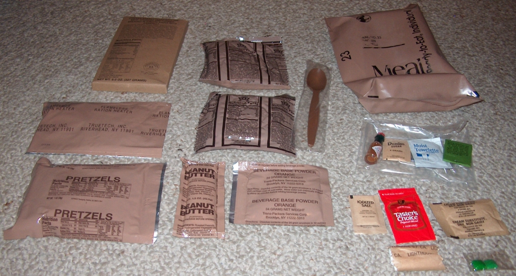 MREs (Meals Ready-to-Eat) Genuine U.S. Military Surplus (1 Pack ...