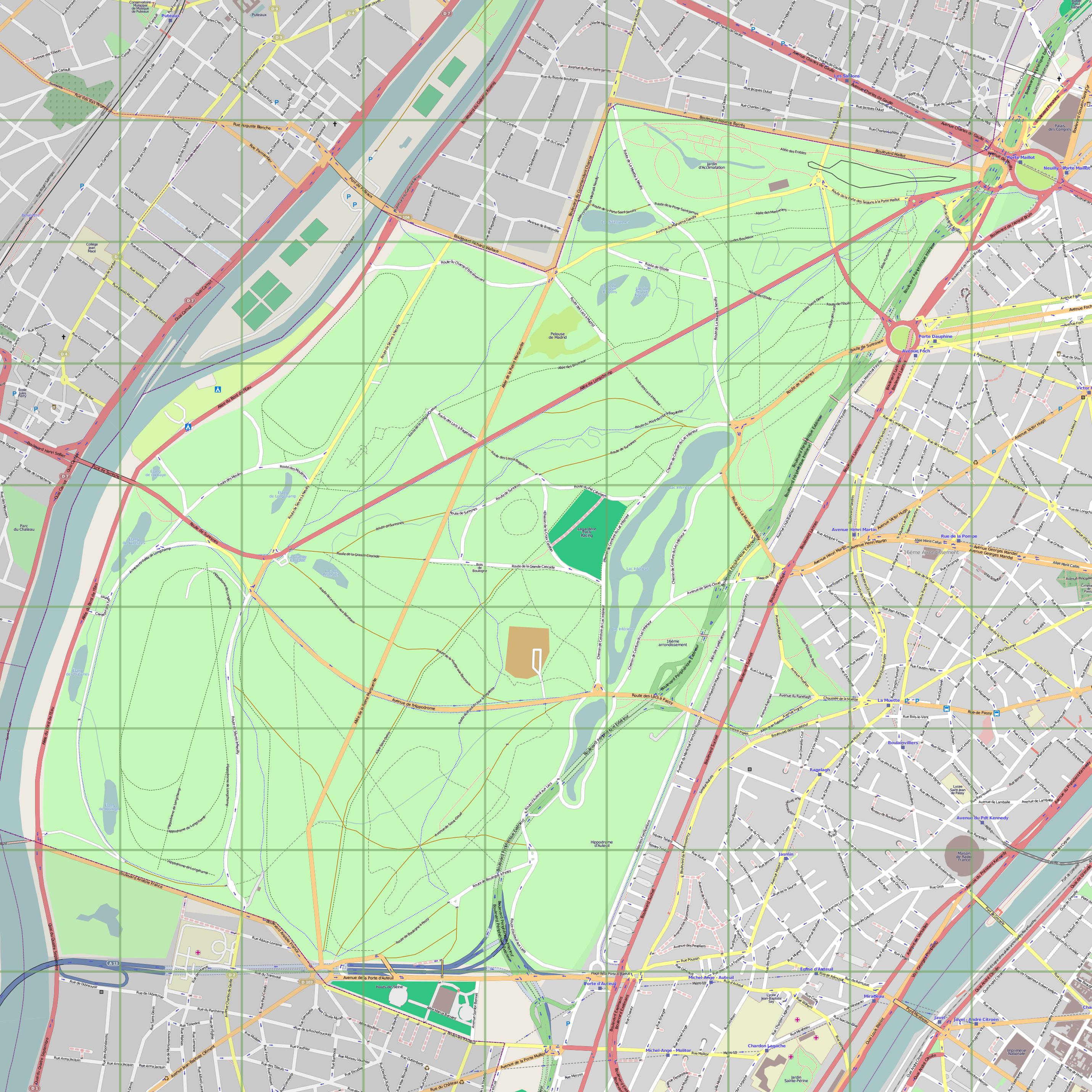 Image Bois De Boulogne : Bois De Boulogne Map
