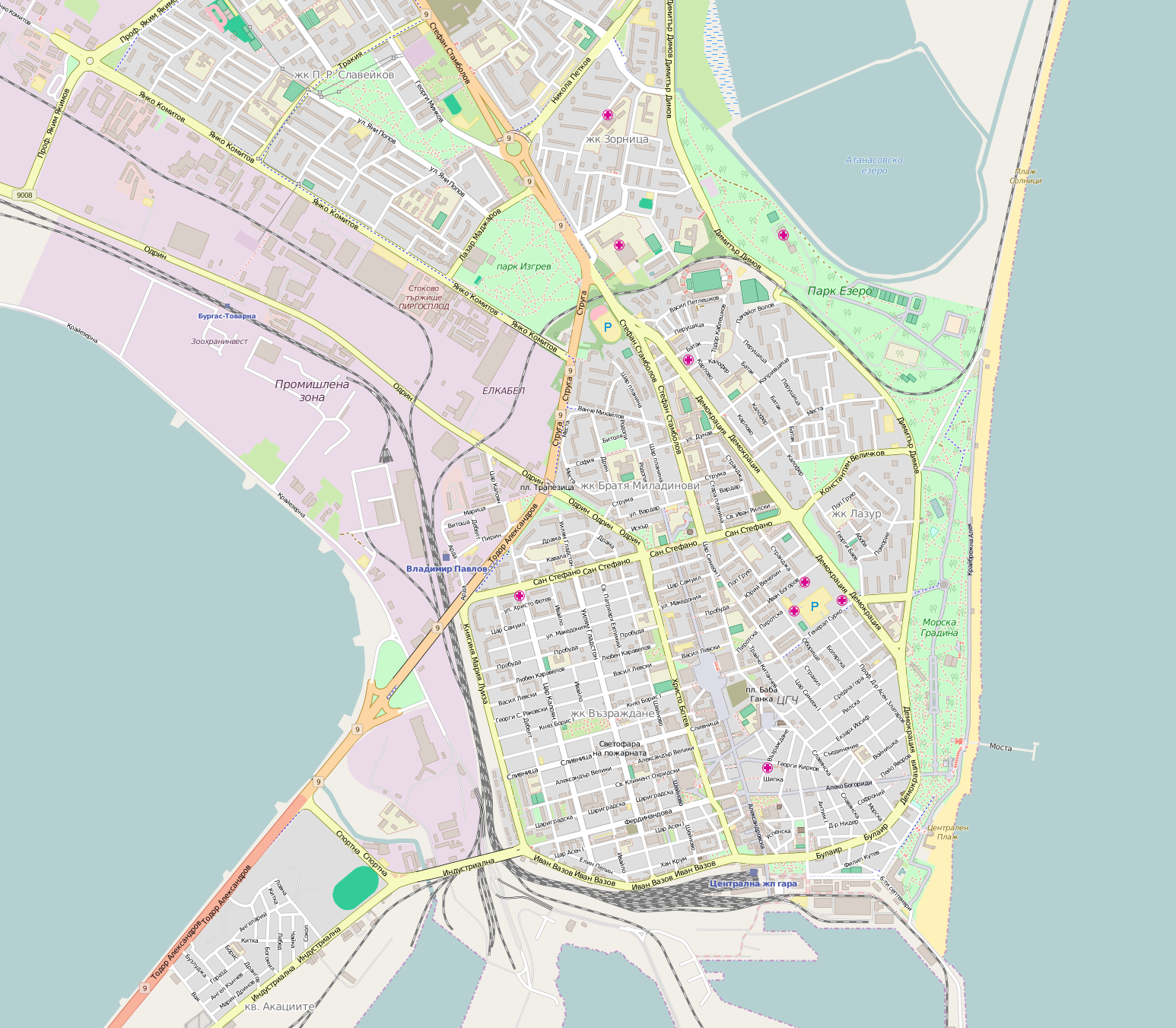 FileMap of Burgas centerpng Wikimedia Commons