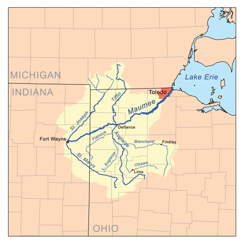 St Marys River Indiana And Ohio Wikipedia - Indiana rivers map