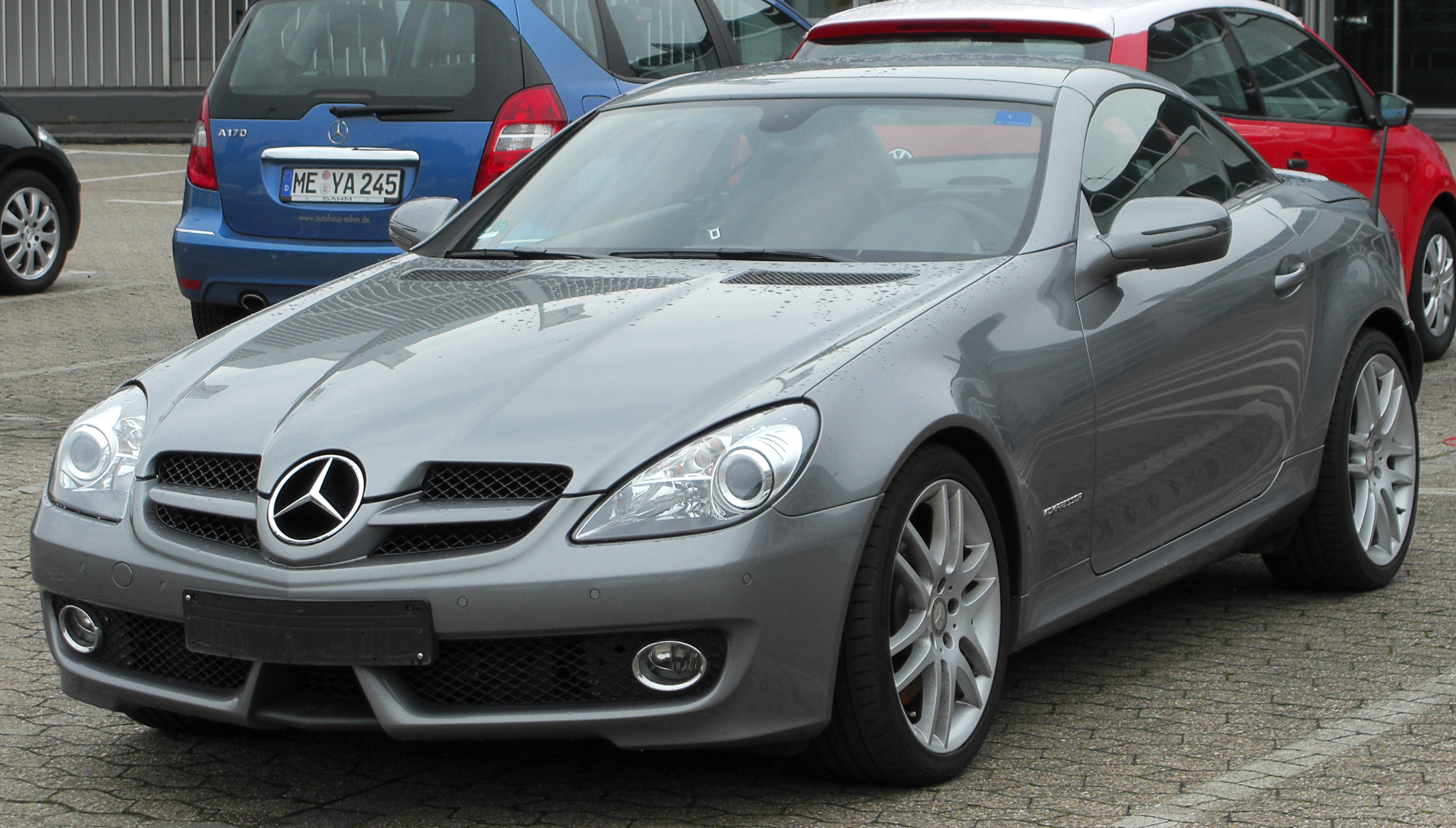 plik mercedes slk 200 kompressor sportpaket r171 facelift front wikipedia. Black Bedroom Furniture Sets. Home Design Ideas