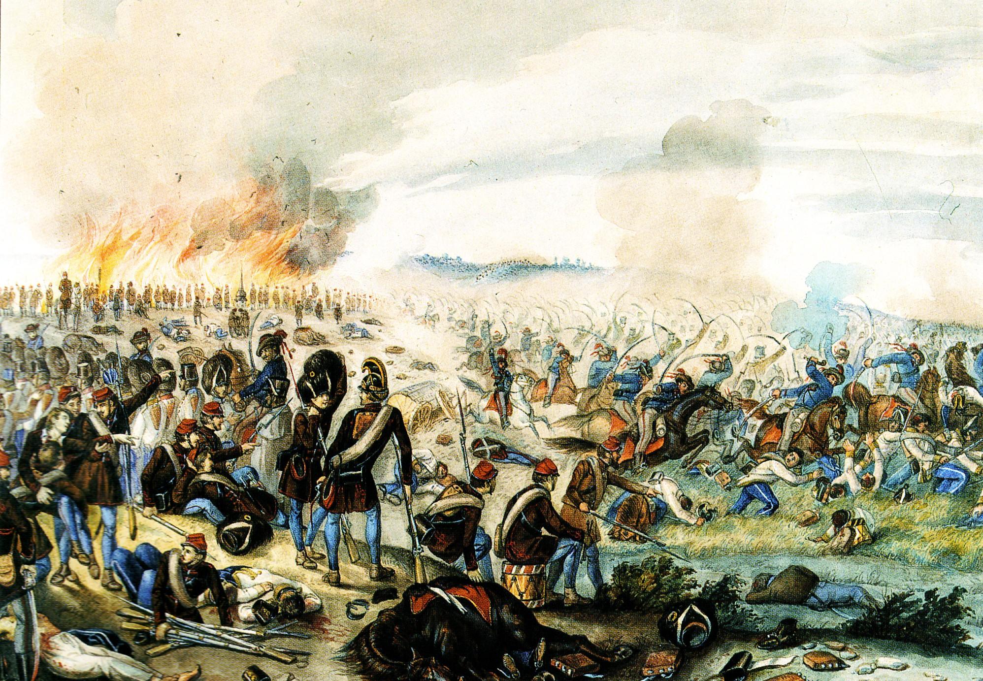 Than Mór: A nagysallói ütközet. 1849. április 19-én Nagysallónál verte meg  Damjanich a Nyitra vonalát védő Ludwig von Wohlgemuth altábornagy csapatait
