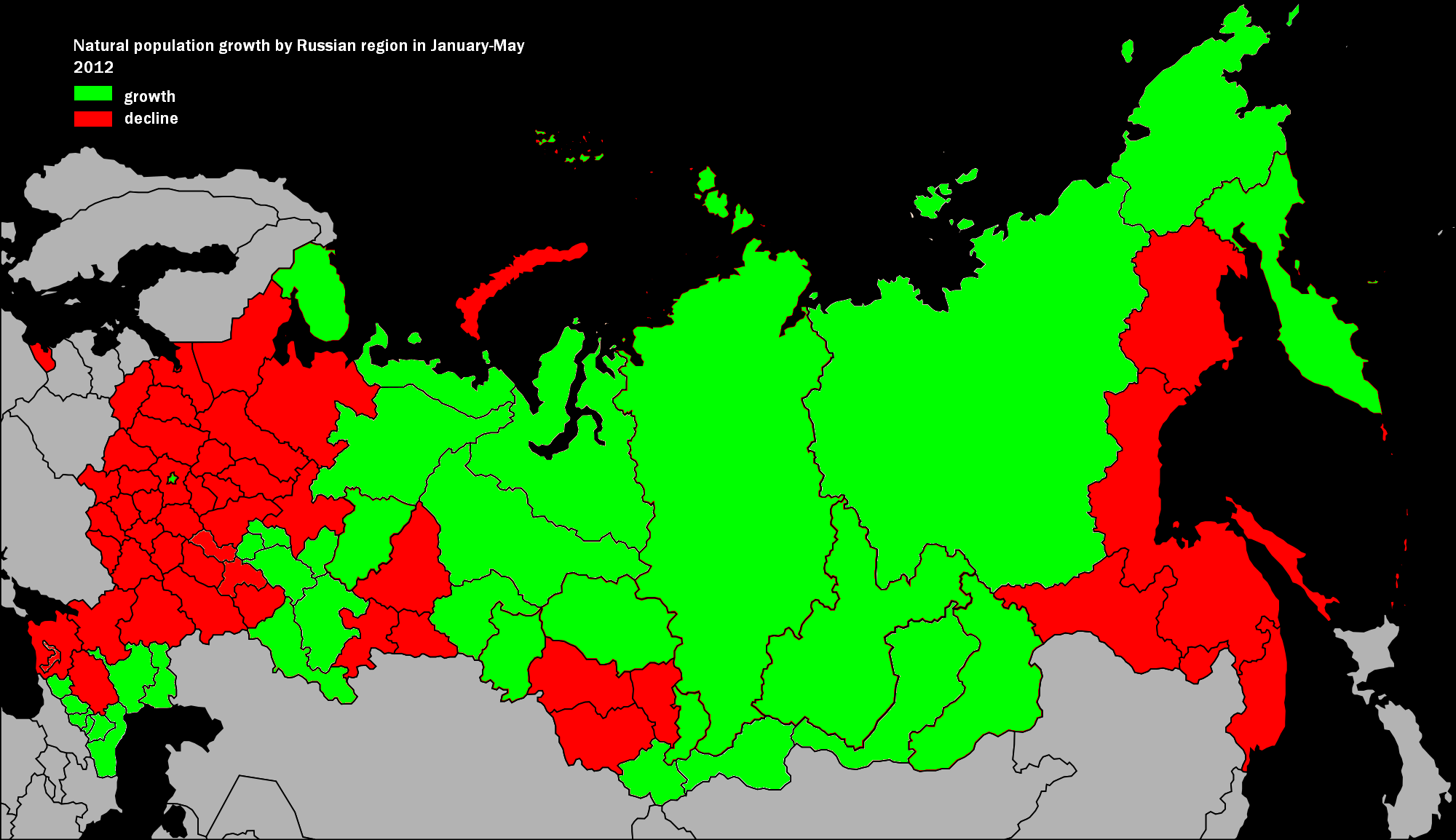 What is the population in Russia