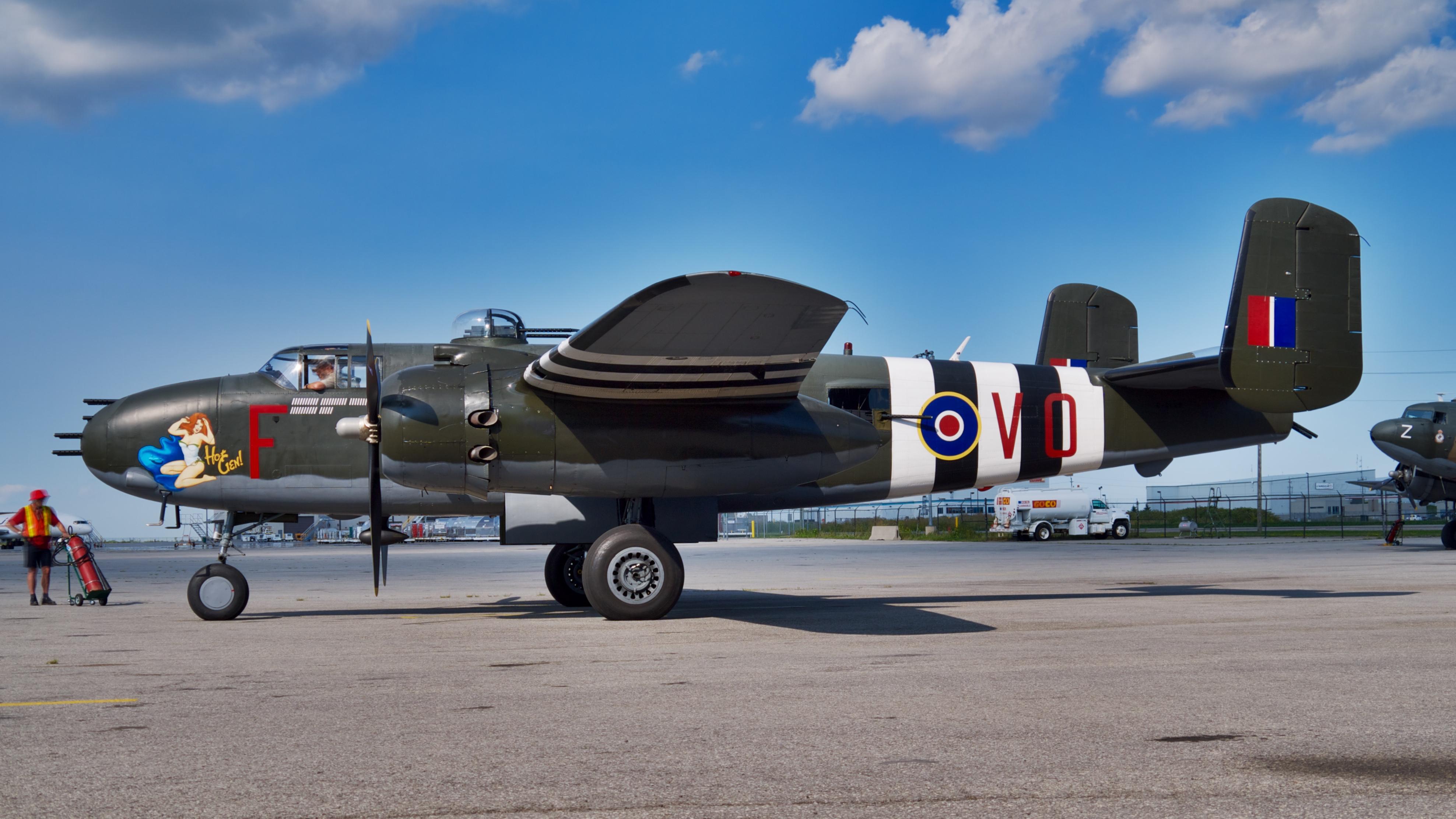 File:North American B-25J Mitchell, Canadian Warplane ...