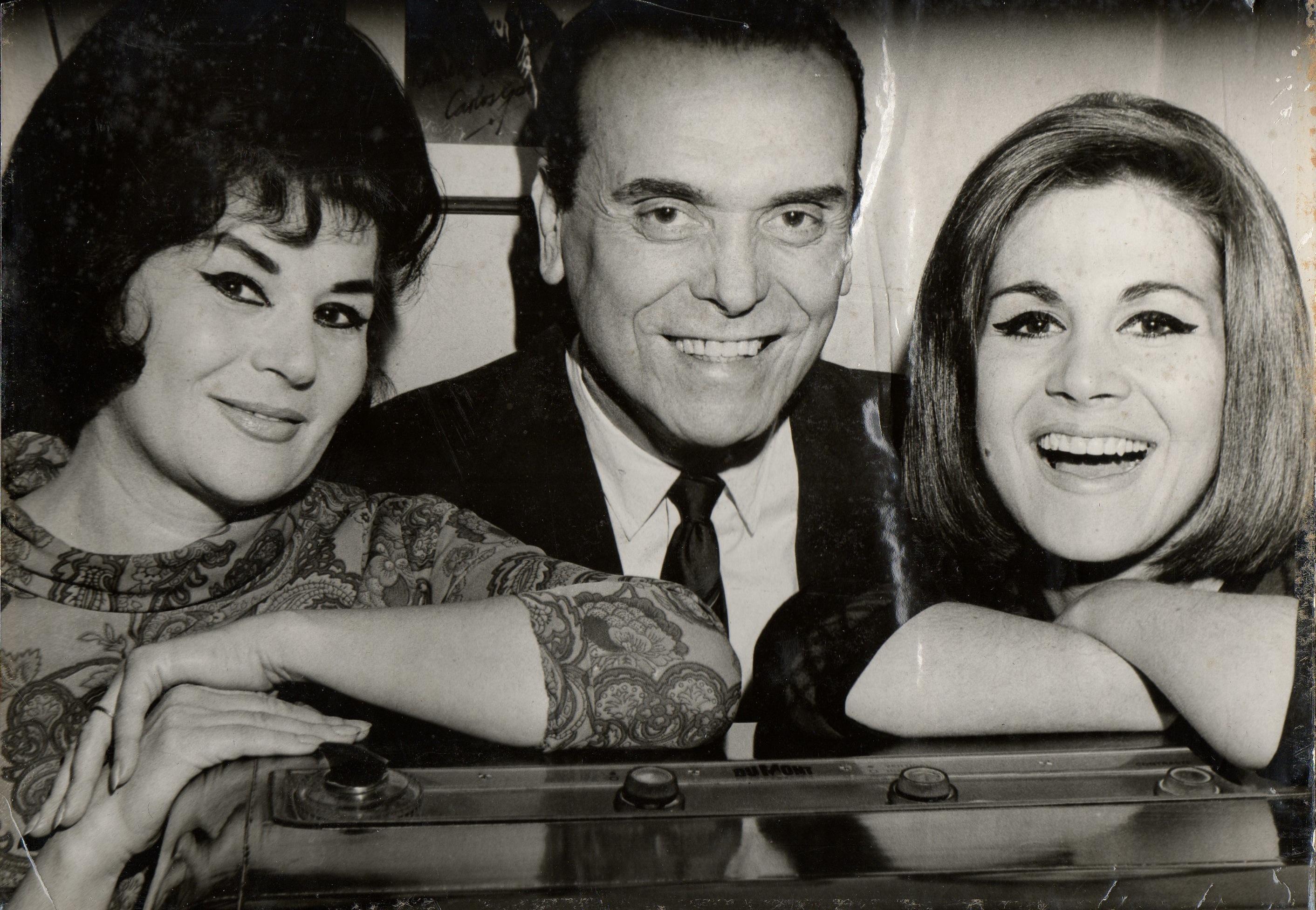 Pedro Laurenz con Elsa Larcade y María Cristina Laurenz