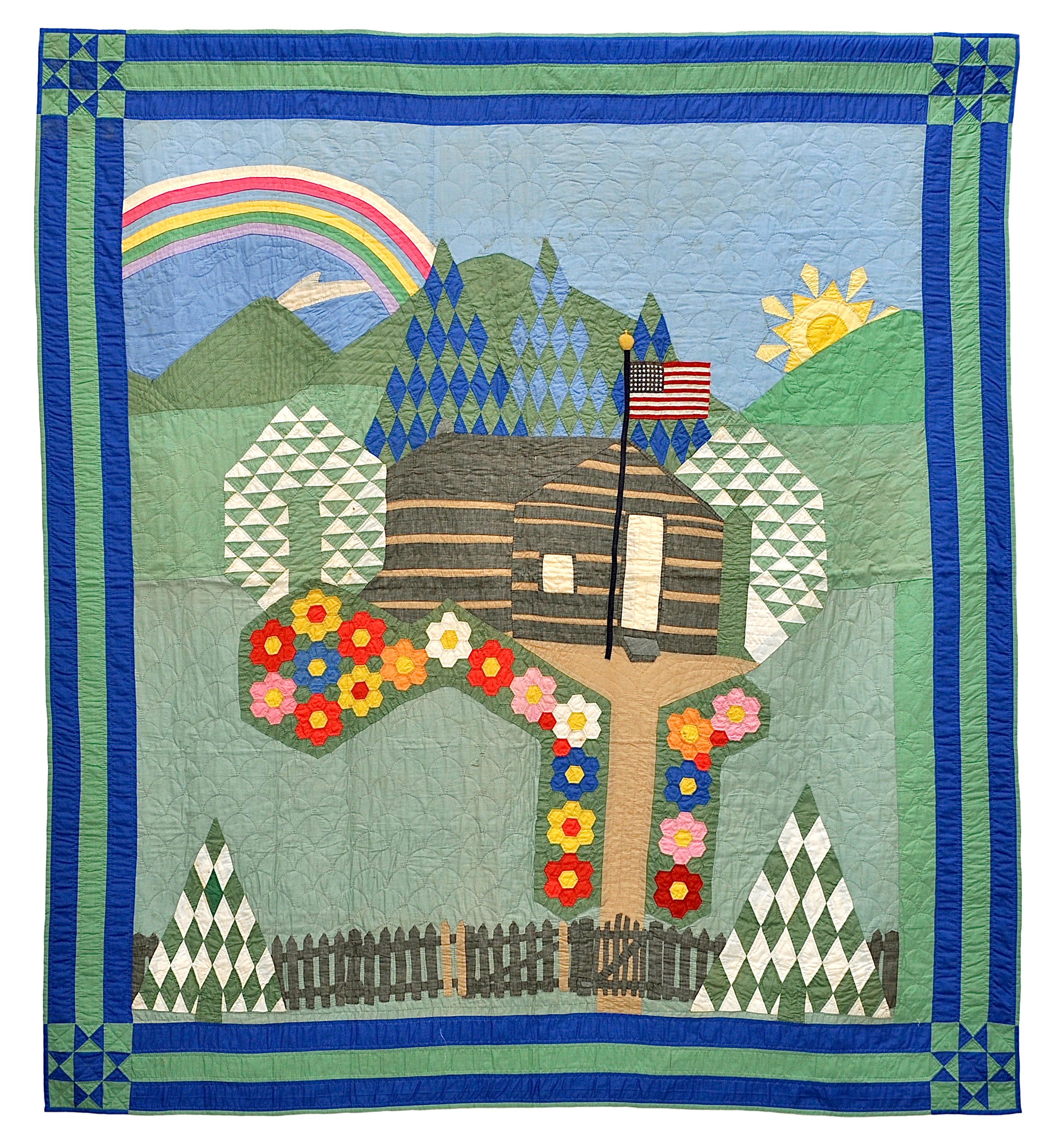 File:Pictorial Quilt with American Flag.jpg - Wikimedia Commons : pictorial quilt - Adamdwight.com
