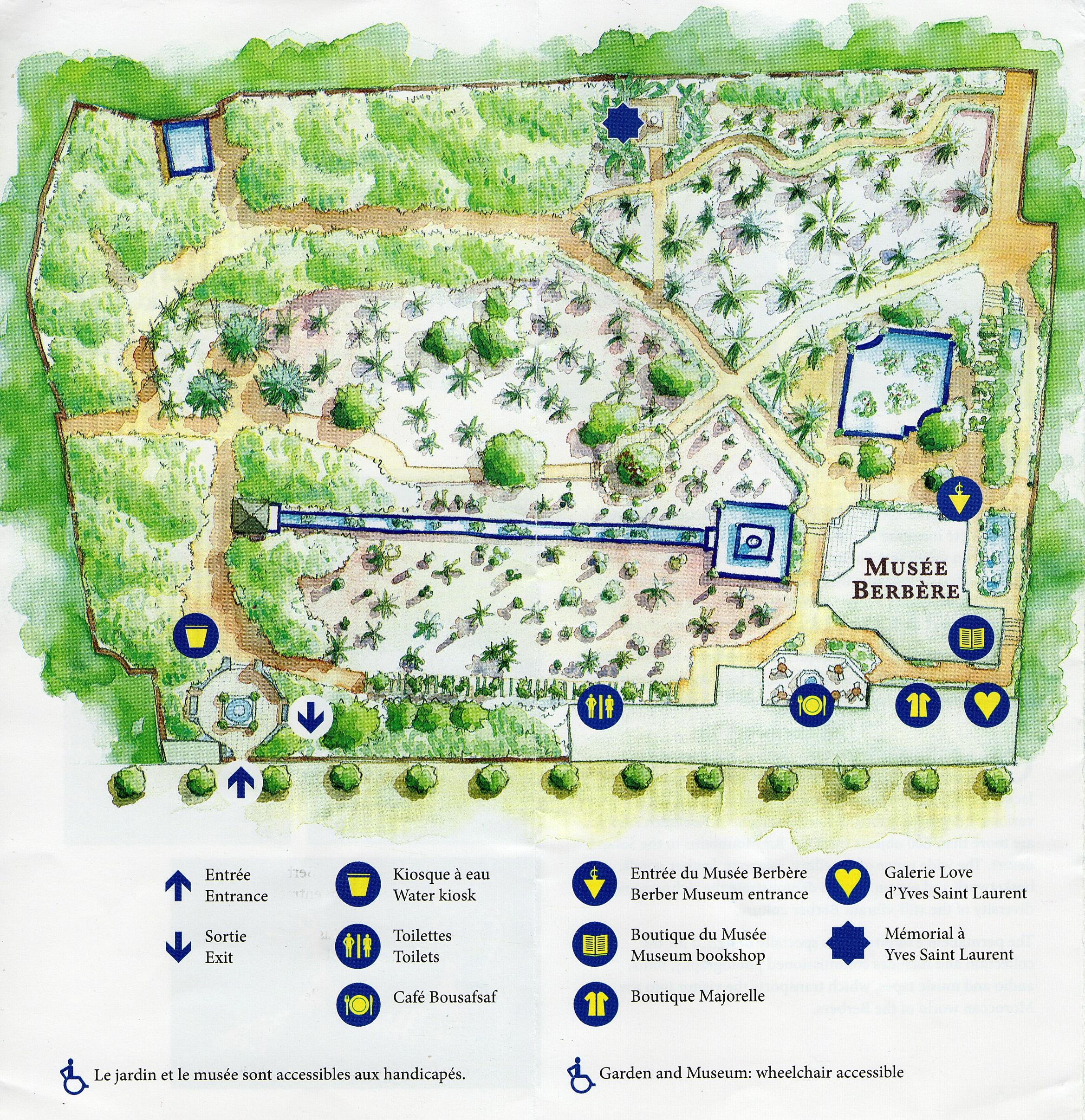 File Plan détaillé du Jardin Majorelle  Marrakech Wikimedia