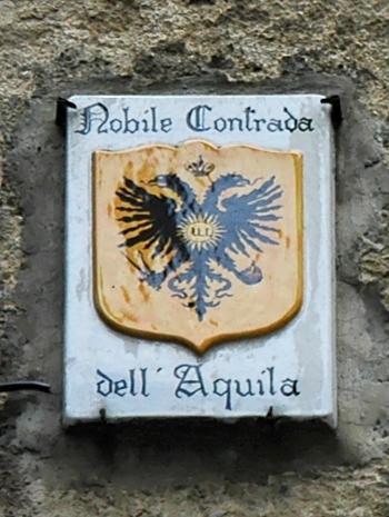 Plaque territory Aquila Siena