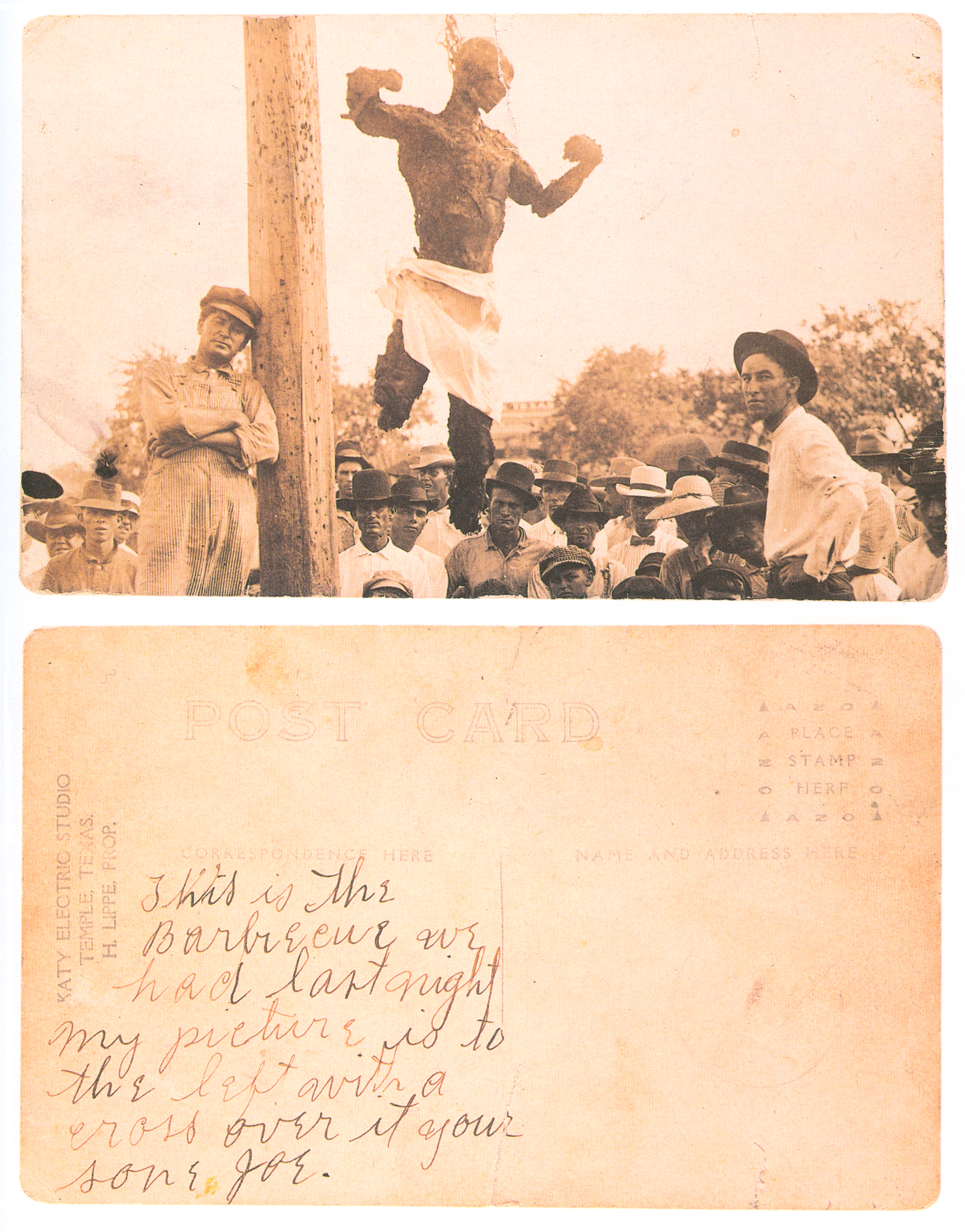 FilePostcard Of The Lynched Will Stanley Front And Back