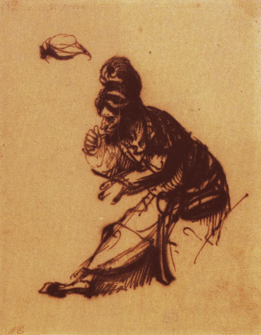 secretos-dibujo-Rembrandt-hombre-viejo-turbante