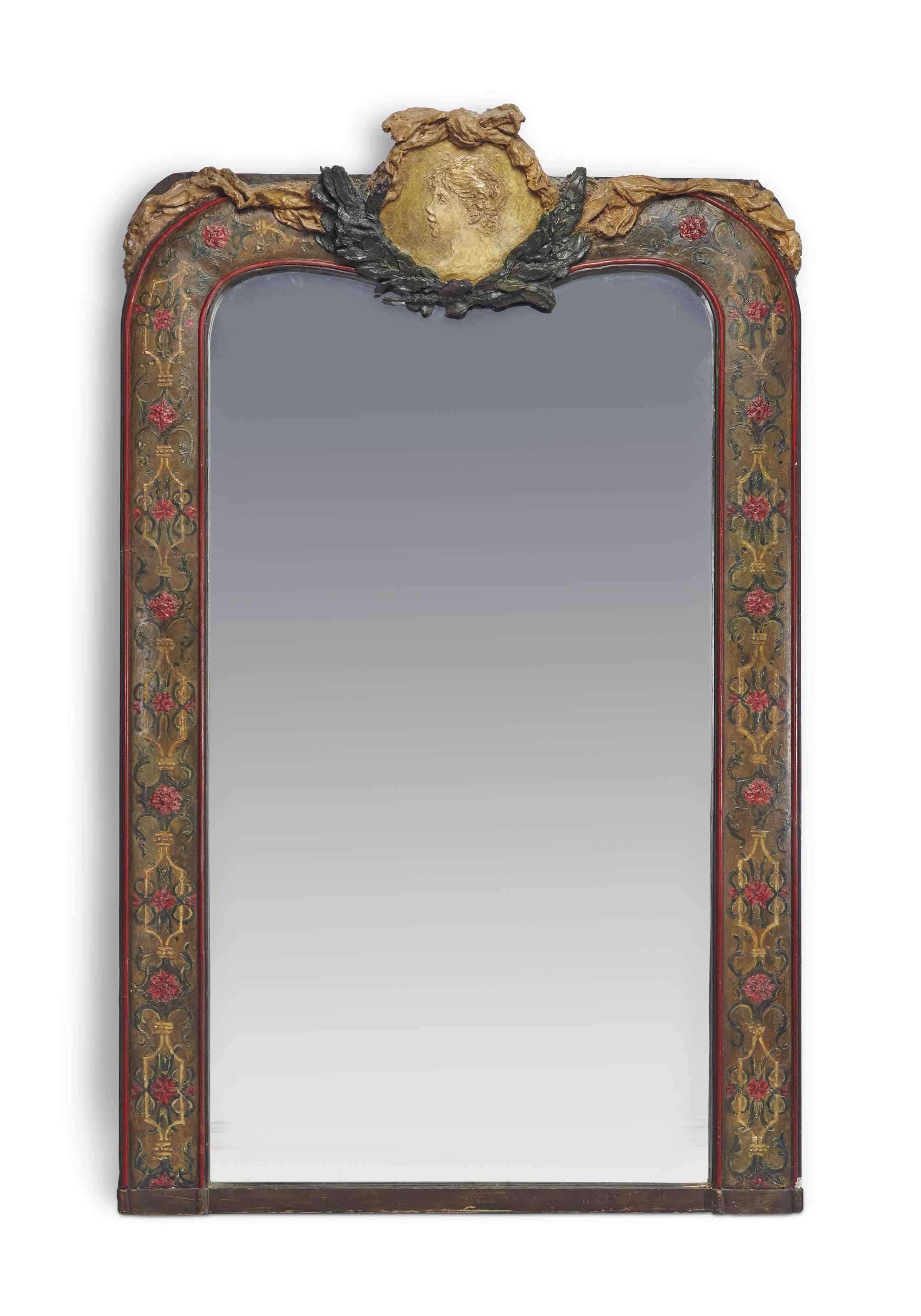 File Renoir Encadrement De Miroir Surmonte D Un Medaillon